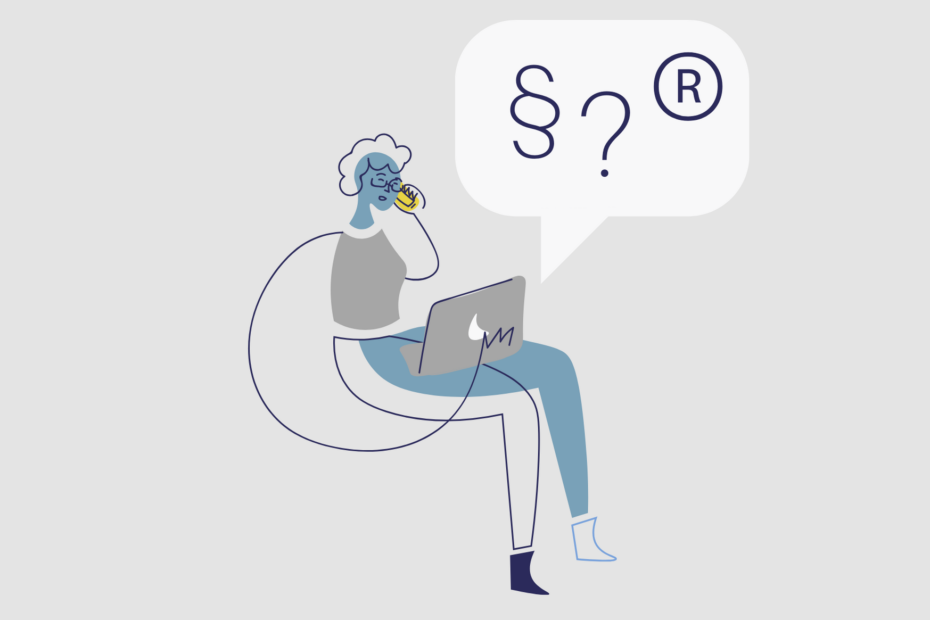 Grafika przedstawiająca siedzącą panią z komputerem na kolanach i telefonem w ręce.