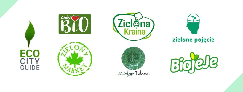 Grafika przedstawiająca siedem eko znaków towarowych